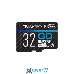 MicroSDHC 32GB UHS-I/U3 Team Go R90/W45MB/s + SD-адаптер (TGUSDH32GU303)