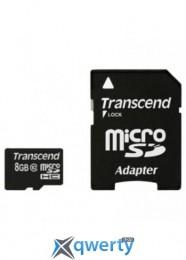 MicroSDHC 8GB Class 10 Transcend + SD-adapter (TS8GUSDHC10)