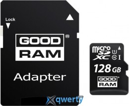 GOODRAM MicroSDXC 128GB UHS-I Class 10 + SD-adapter (M1AA-1280R11)