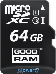 MicroSDXC 64GB UHS-I Class 10 GOODRAM + SD-adapter + OTG Card reader (M1A4-0640R11)