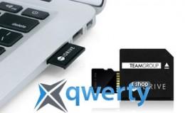 MicroSDXC 64GB UHS-I Team + MiDRIVE adapter для MacBook (TUSDX64GU339)
