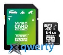 GoodRam MicroSDXC 64GB UHS-I/U3 Class 10 + SD-adapter R95/W90MB/s (M3AA-0640R11-DD)