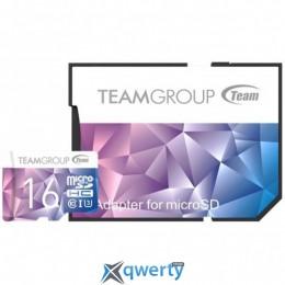 Team MicroSDHC 16GB UHS-I/U3 Color II + SD-adapter Purple/Blue (TCIIUSDH16GU349)