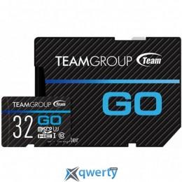 Team MicroSDHC 32GB UHS-I/U3 Go R90/W45MB/s + SD-адаптер (TGUSDH32GU303)
