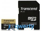 MicroSDHC 128GB UHS-I/U3 Class 10 Transcend Ultimate R90/W60MB/s + SD-adapter (TS128GUSDU3M)