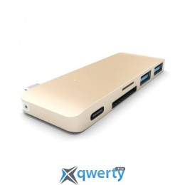 Satechi Type-C USB 3.0 Passthrough Hub Gold (ST-TCUPG)