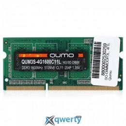 QUMO SODIMM DDR3L 1600MHz 4GB PC-12800 (QUM3S-4G1600C11L)
