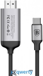 Baseus C-Video Type-C To HDMI Male joint Adapter Cable 1.8M Dark gray (CATCY-B0G)