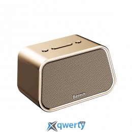 Baseus Encok Multi-functional wireless speaker E02 (Aluminum alloy+U disk/TF card/AUX) Gold (NGE02-0