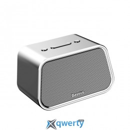 Baseus Encok Multi-functional wireless speaker E02 (Aluminum alloy+U disk/TF card/AUX) Silver (NGE02)