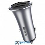 Baseus Trumpet metal power Car Charger Gray (CCLB-0G)