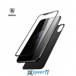 Baseus Glass Film Set (Front film+Back film) for iPhone X Black (SGAPIPHX-TZ01)