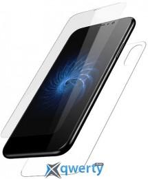 Baseus Glass Film Set (Front film+Back film) for iPhone X White (SGAPIPHX-TZA2)