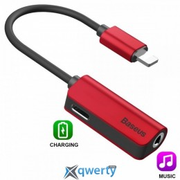 Baseus L32 IP Male to 3.5mm+IP Female Adapter Red (CALL32-09)