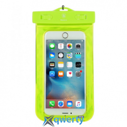 Baseus Waterproof Bag Green (Adapt cellphone for 5.5 inches or below the 5.5 inches) (ACBASEBAG-06)