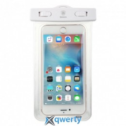Baseus Waterproof Bag White (Adapt cellphone for 5.5 inches or below the 5.5 inches) (ACBASEBAG-02)