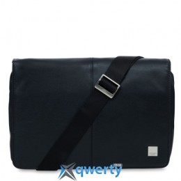 Knomo Kinsale Slim Crossbody Messenger 13 Black (KN-154-303-BLK)