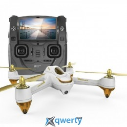 Квадрокоптер Hubsan H501S FPV c GPS монитор 4.3 белый