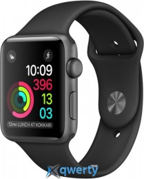 Apple Watch Series 1, 42mm Space Gray Aluminum Case with Black Sport Band (MP032)