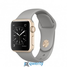 Apple Watch Series 1 MNNJ2 38mm Gold Aluminum Case with Concrete Sport Band