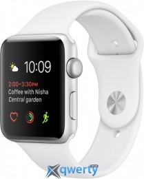 Apple Watch Series 1 MNNL2 42mm Silver Aluminum Case with White Sport Band