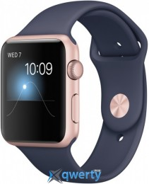 Apple Watch Series 1 MNNM2 42mm Rose Gold Aluminum Case with Midnight Blue Sport Band