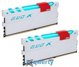 16Gb DDR4  (2x8Gb KIT) 3000MHz GeIL EVO X White PC4-24000 (GEXW416GB3000C15ADC)