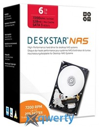 Hitachi Deskstar NAS 6TB 128MB 7200RPM 3.5'' (0S04007)