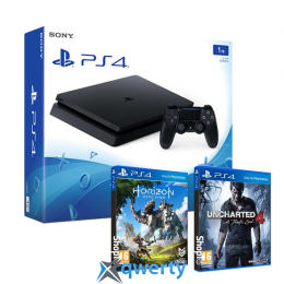 Sony PlayStation 4 1tb Slim + Horizon + Uncharted 4