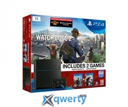 Sony PlayStation 4 1tb Slim + Watch Dogs (Rus) + Watch Dogs 2 (Eng)