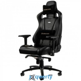 NOBLECHAIRS Epic Series Real Leather Black (NBL-RL-BLA-001)