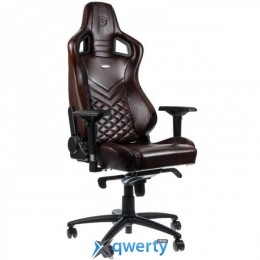 NOBLECHAIRS Epic Series Real Leather Brown/Black (NBL-RL-BRO-001)