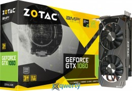 Zotac PCI-Ex GeForce GTX 1060 AMP Edition 3GB GDDR5 (192bit) (1582/8008) (DVI, HDMI, 3 x DisplayPort) (ZT-P10610E-10M)