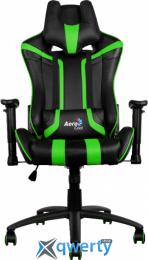 AEROCOOL AC120BG (4710700959664) (чёрное/зеленые вставки) + подушка под шею