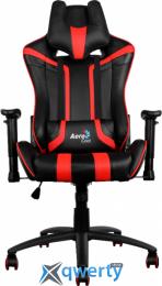 AEROCOOL AC120BR (4710700959657) (чёрное/красные вставки) + подушка под шею