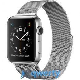 Apple Watch Series 2, 42mm Stainless Steel Case with Silver Milanese Loop (MNPU2)