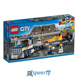 LEGO City Грузовик для перевозки драгстера 333 детали (60151)