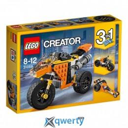 LEGO Creator Оранжевый мотоцикл 194 детали (31059)