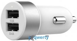 Lab.C Dual USB Car Charger A.L White Silver (3.4 A) (LABC-582-SV_N)