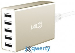Lab.C X5 5 Port USB Wall Charger Champagne Gold (8A) (LABC-587-GD_KR)
