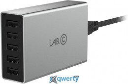 Lab.C X5 5 Port USB Wall Charger Space Gray (8A) (LABC-587-GR_KR)