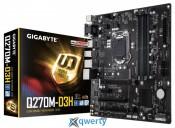 GIGABYTE (s1151, Intel Q270, PCI-Ex16) (GA-Q270M-D3H)