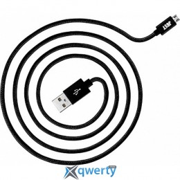JUST Copper Lightning USB Cable 1,2M Black (LGTNG-CPR12-BLCK)