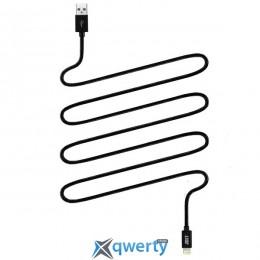 JUST Copper Lightning USB Cable 2M Black (LGTNG-CPR20-BLCK)