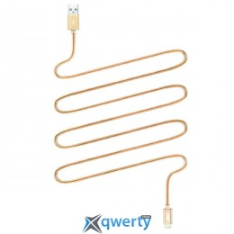 JUST Copper Lightning USB Cable 2M Gold (LGTNG-CPR20-GLD)