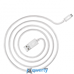 JUST Copper Micro USB Cable 1,2M Silver (MCR-CPR12-SLVR)