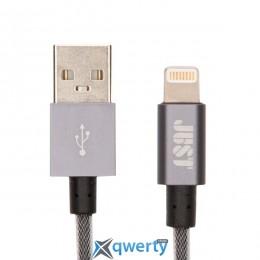 JUST Selection Lightning USB (MFI) Cable Grey (LGTNG-SLCN-GR)