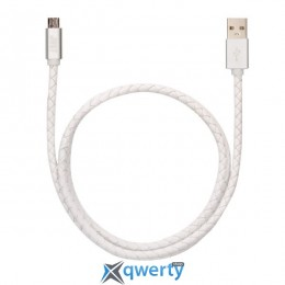 JUST Unique Micro USB Cable White (MCR-UNQ-WHT)