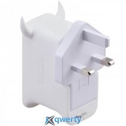 MOMAX U.Bull QC 2.0 USB Charger EU White (UM1SEUW)