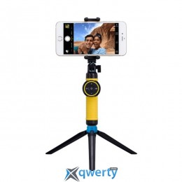 MOMAX Selfie Tripod Stable Handy Black/Yellow (TRS2Y)